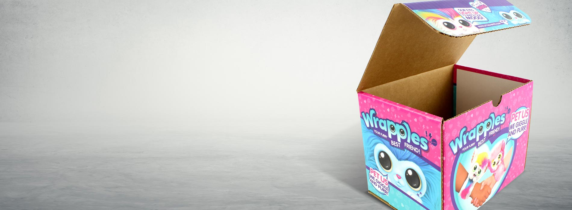 Wrapples Toy Cardboard Box