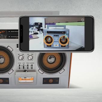 AR Electronics Boom Box Display