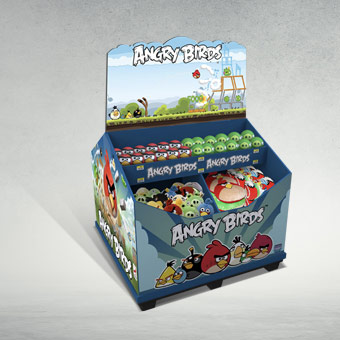 POS Dump Bin Display for Angry Birds Toys