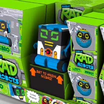 Point of Sale Display for Rad Robots