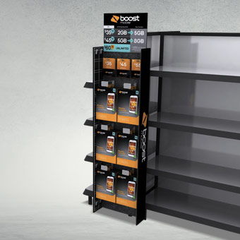 Boost Mobile Electronics Standees