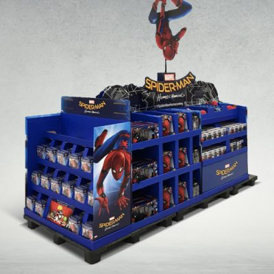 Spiderman Train Display