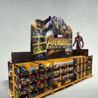 Avengers Cardboard Train Display