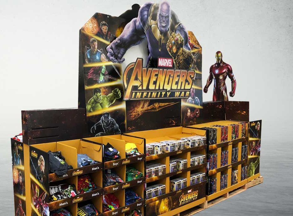 Avengers Retail Train Display
