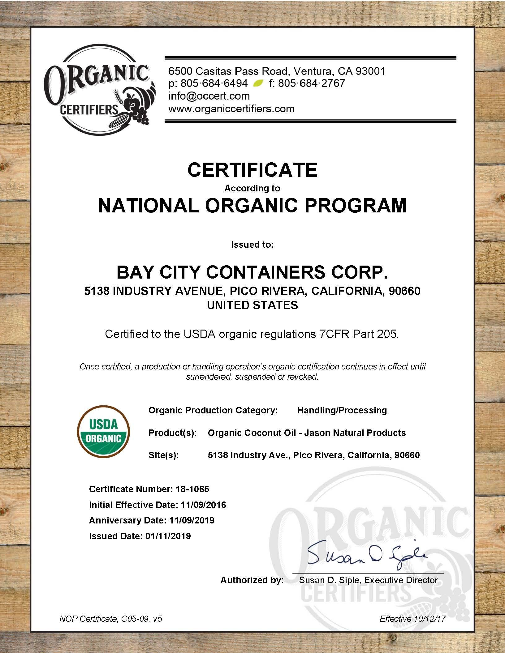 Certifications - Bay Cities