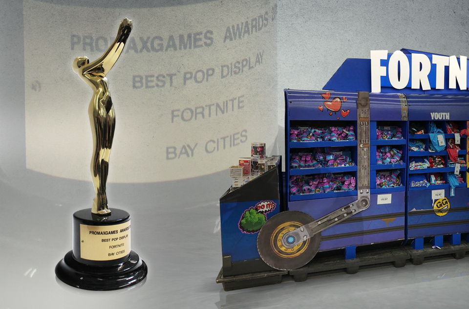 Promax Games Awards Best POP Display Fortnite Battle Bus