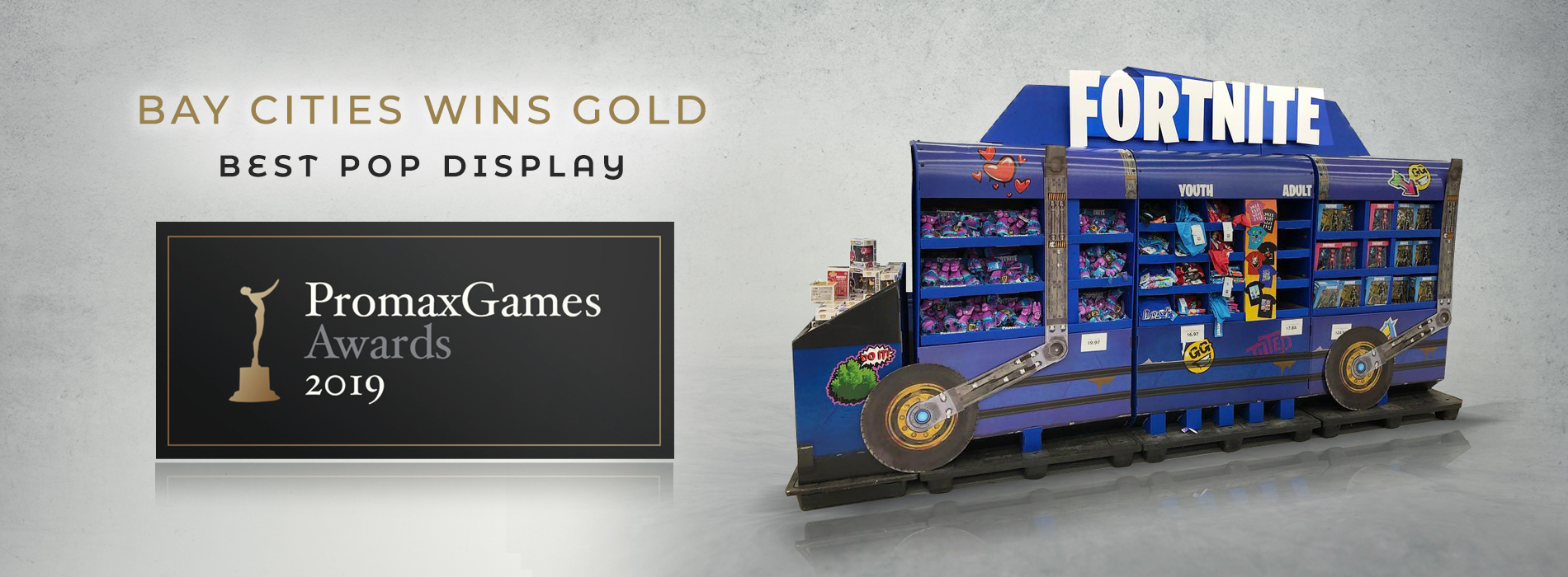 Promax Games Fortnite Battle Bus Best POP Display