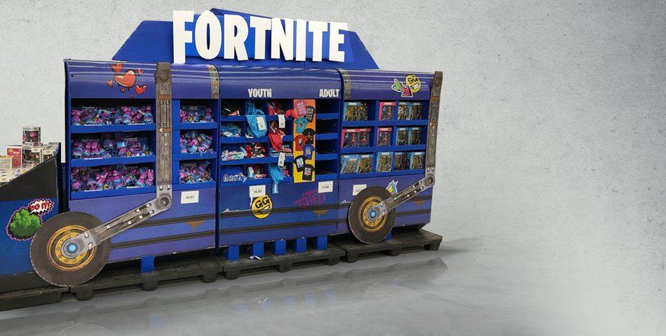 Promax Games Awards Best POP Display for Fortnite Battle Bus