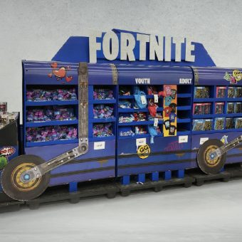 Fortnite Battle Bus Train Display