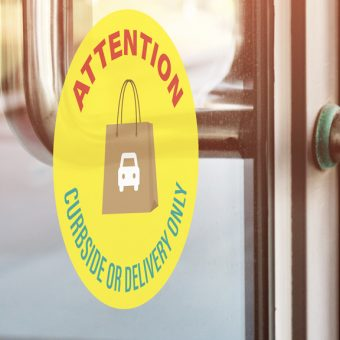 Curbside or delivery only cling - bay cities