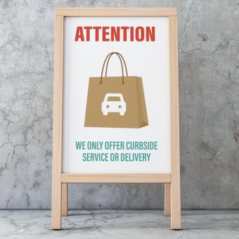 Curbside or delivery sign - bay cities