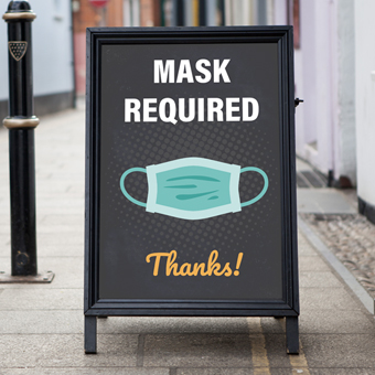 Mask required signage