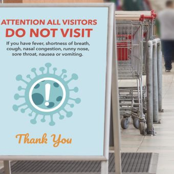 Do not visit if youre sick sign